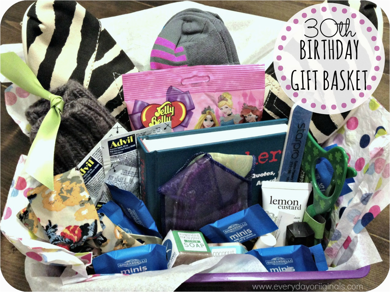 30th Birthday Gift Baskets For Her Crafty Ideas Women