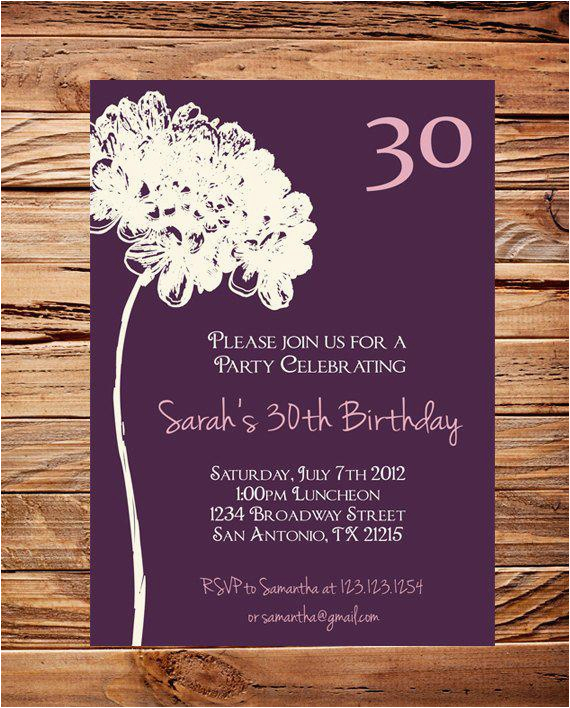 30th Birthday Invitation Sayings