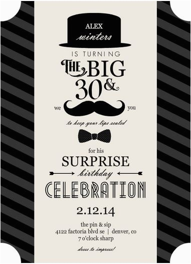 30th Birthday Invitations For Men Free Printable Template