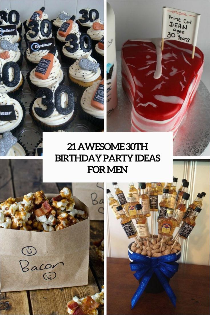 30th men birthday party ideas
