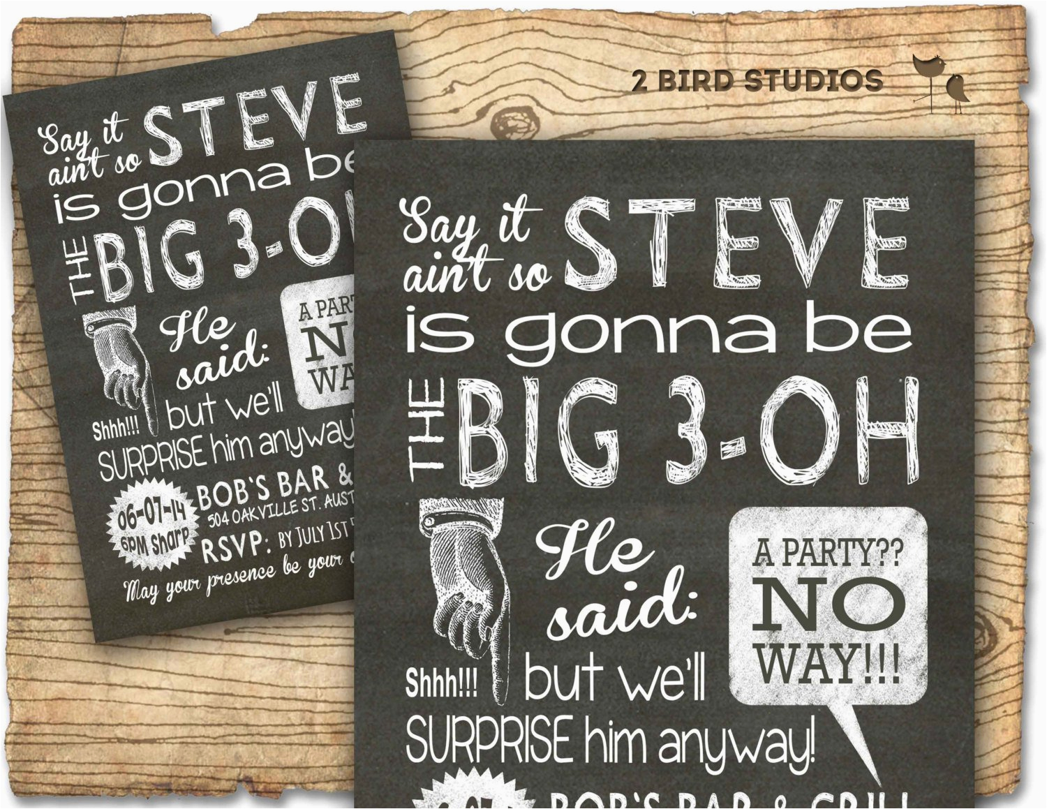 30th birthday party invitations for men