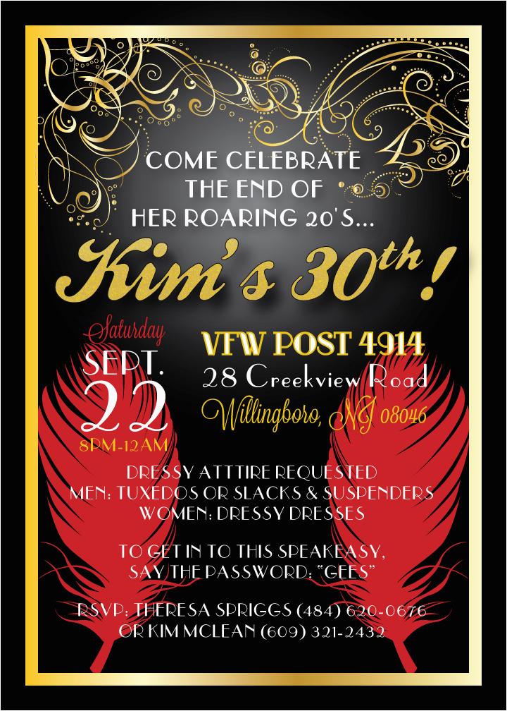 30th Birthday Party Invitations For Her Invitation Ideas Cimvitation