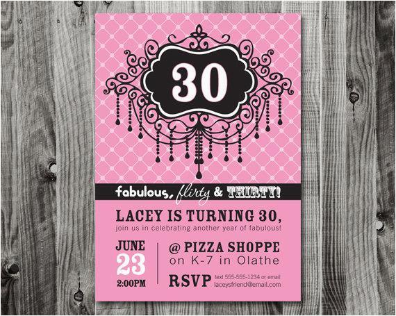 30th Birthday Party Invite Wording 20 Interesting Invitations Themes
