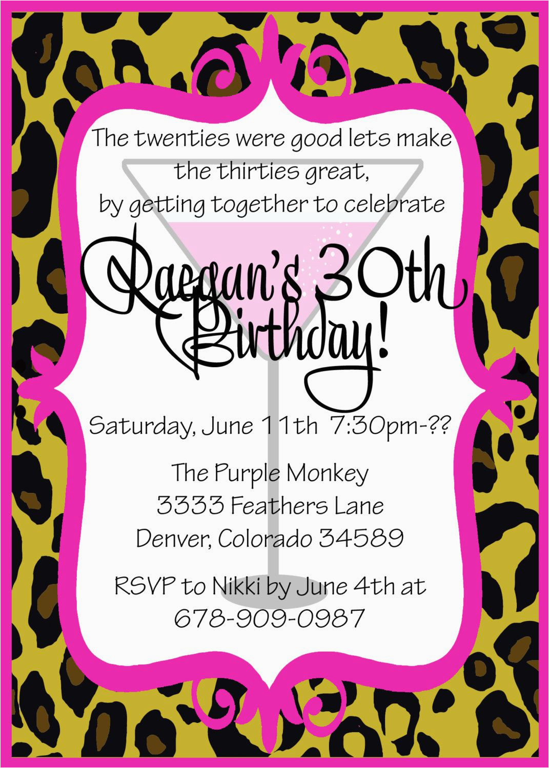 30th Birthday Party Invite Wording Free Invitation Templates For