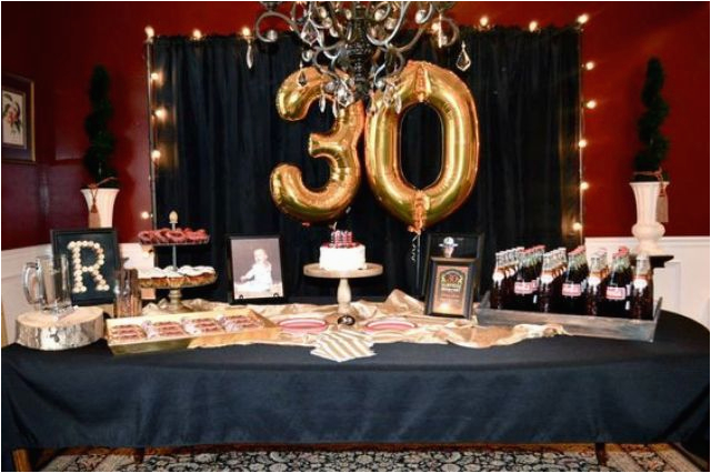 30th Birthday Table Decorations 21 Awesome 30th Birthday Party Ideas for Men Shelterness