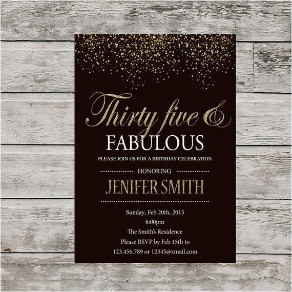 35th birthday invitation for women