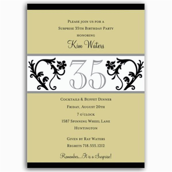 35th birthday party invitation wording