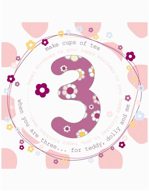 3rd Birthday Card Girl 3rd Birthday Cards for Girls Molly Mae 3rd Birthday