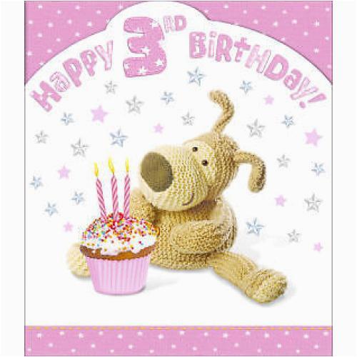 3rd Birthday Card Girl Girls 3rd Birthday Card Boofle Happy Birthday
