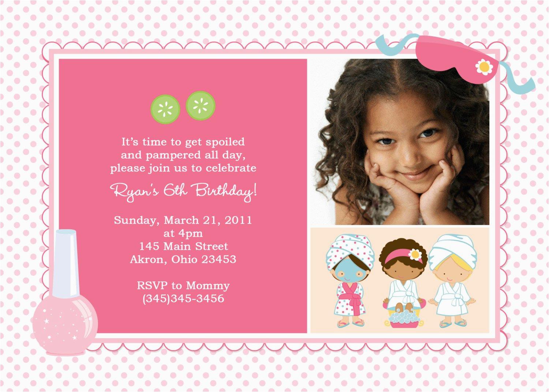 3rd Birthday Invites For Girl Third Invitation Rhymes