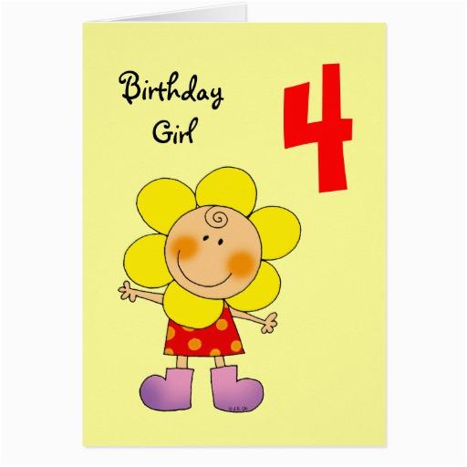 4 year old birthday girl cards 137301728493841825
