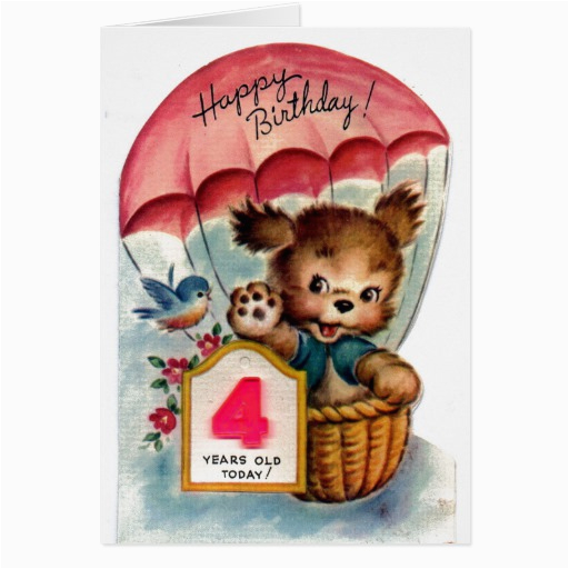 4 Year Old Birthday Cards 4 Year Old Birthday Quotes Quotesgram