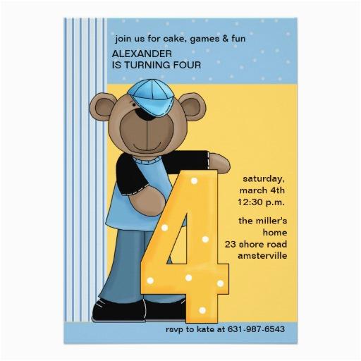 4 Year Old Birthday Invitation Wording 4 Years Old Birthday Invitations Wording Free Invitation