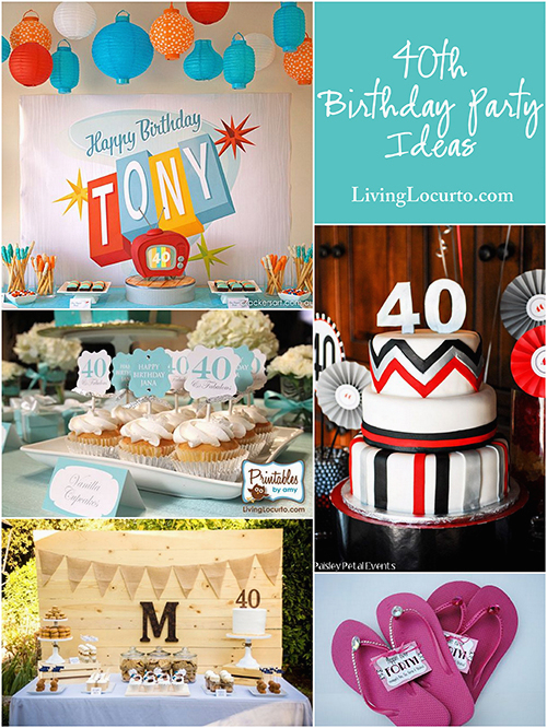 40 Birthday Decoration Ideas 40th Party Backyard Table Decorating