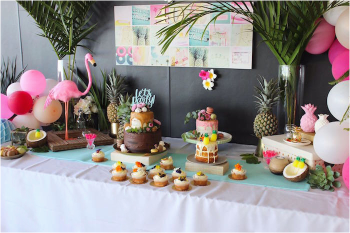 40th birthday tropical soiree