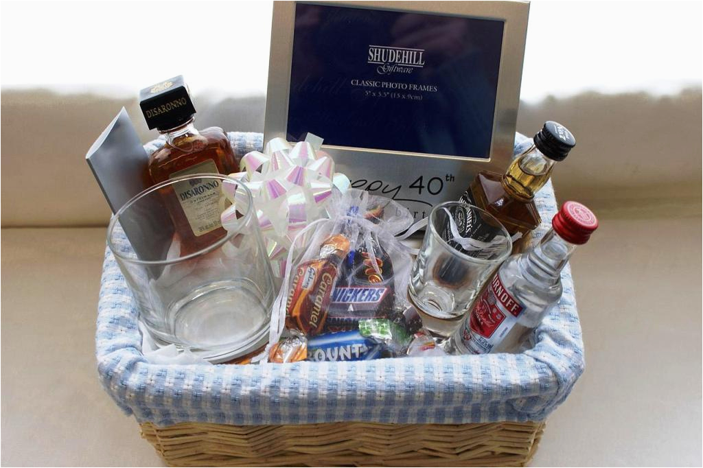 QuotSome People Say Turning 40quot Birthday Gift Basket Idea From The