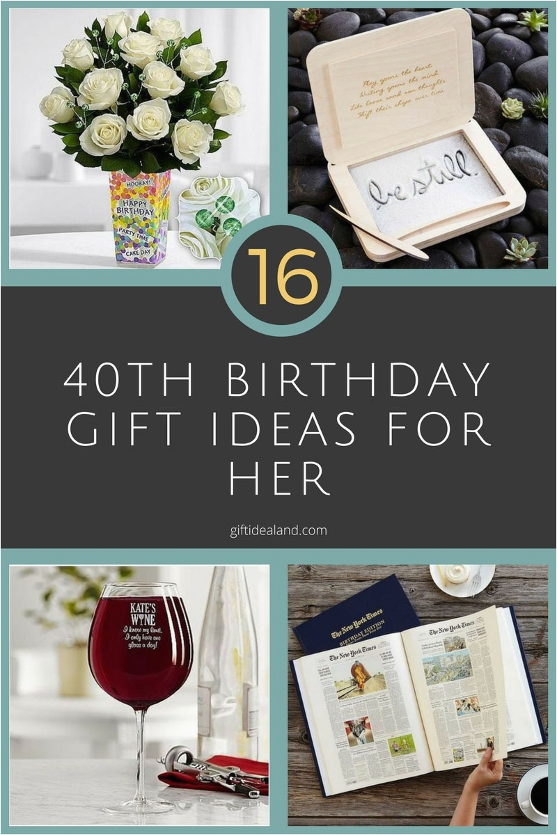 40th birthday present ideas for herwritings and papers
