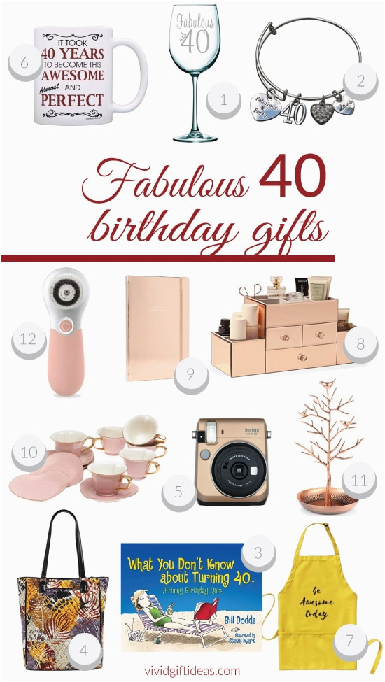 40 Birthday Gifts For Her Fabulous 40th Presents Vivid 39 S