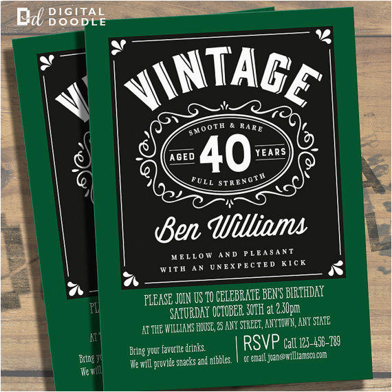 40 Year Old Birthday Invitations 40th Party For Men Dolanpedia