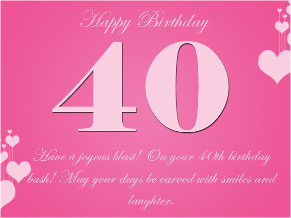 40th birthday wishes