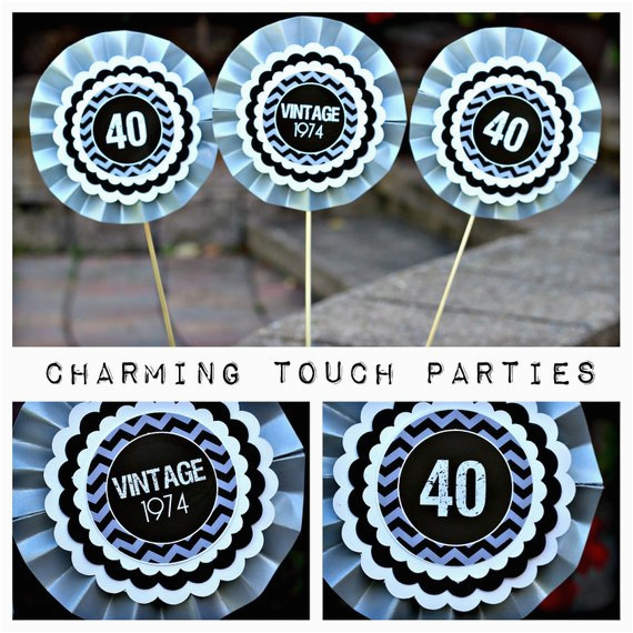 40th Birthday Decorations Black And Silver Items Similar To Party Decor
