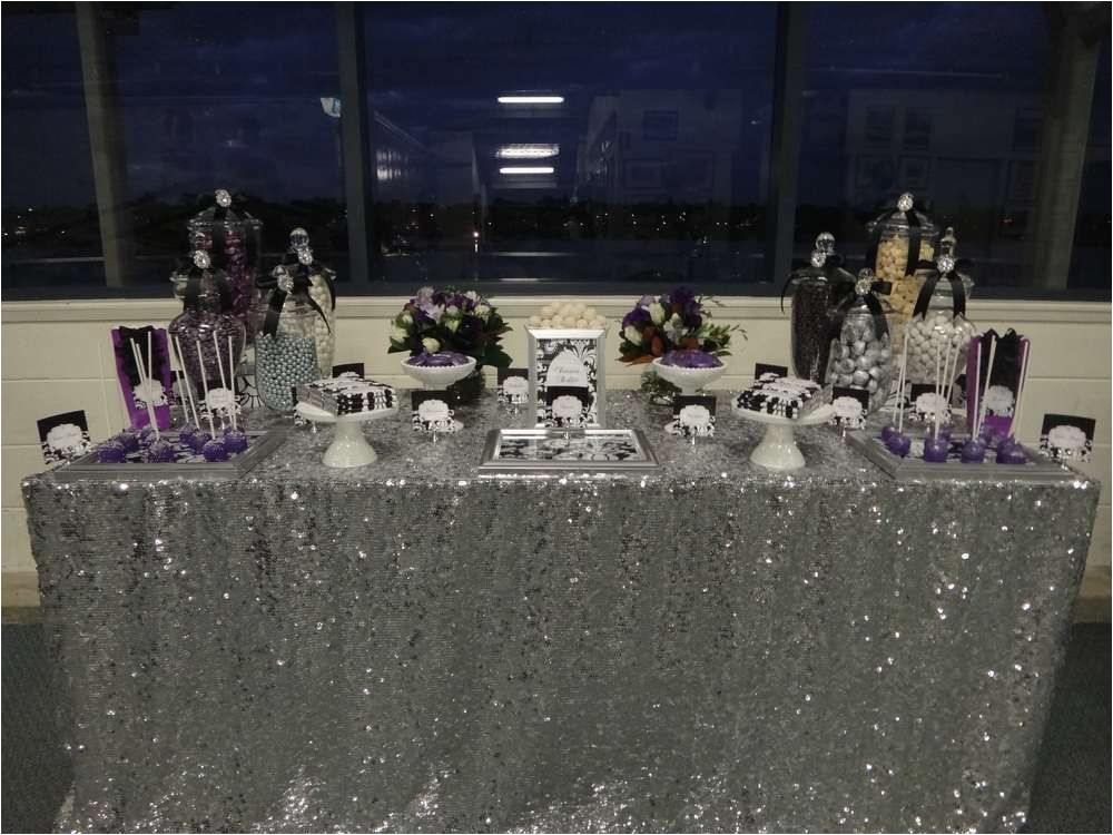 40th Birthday Decorations Black And Silver Purple White Party Ideas In