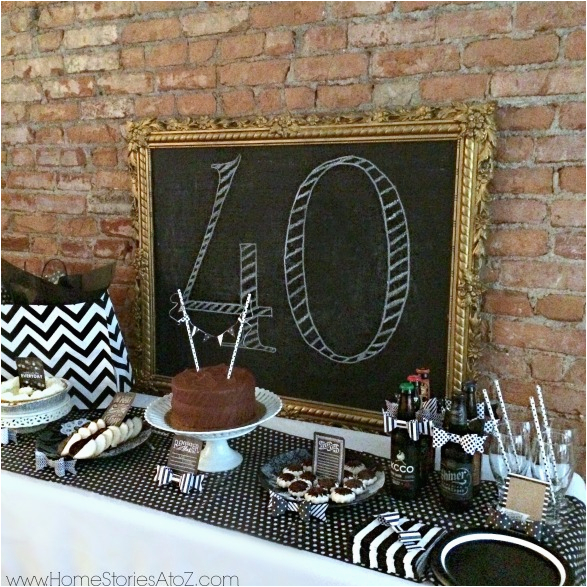 40th Birthday Decorations for Men 40th Birthday Party Idea for A Man