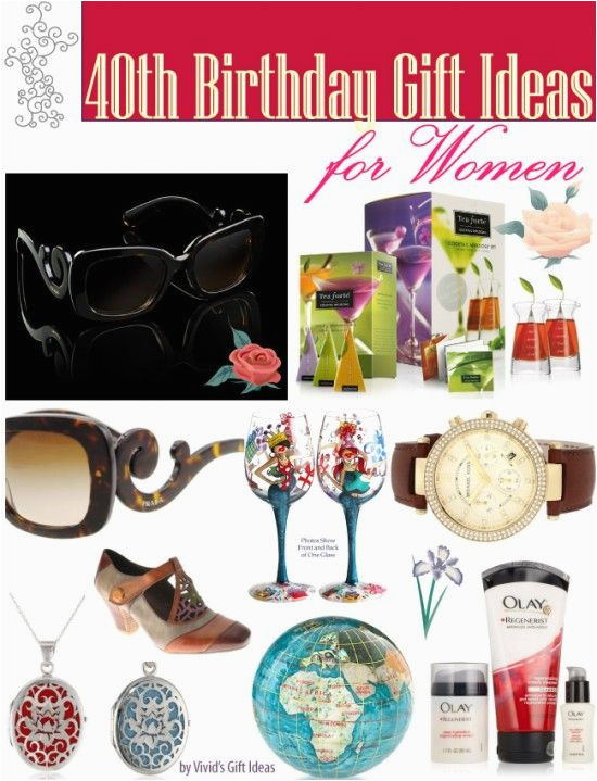 40th Birthday Ideas For A Woman Gift Women