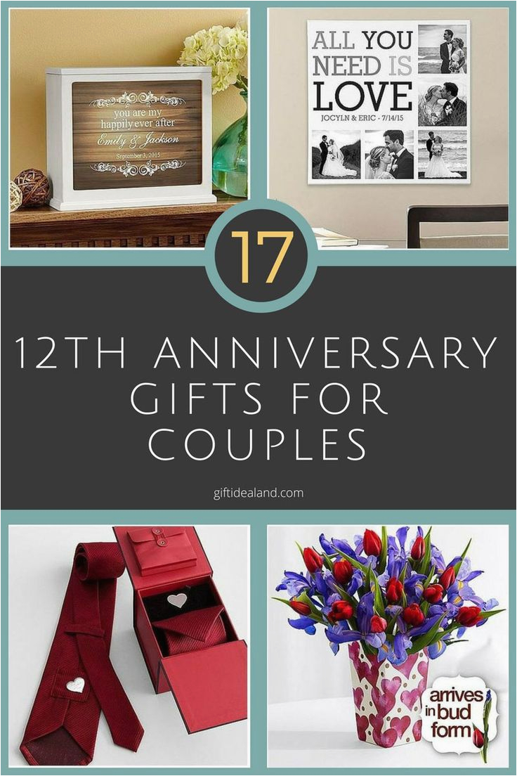 40th Birthday Ideas For Couples 35 Good 12th Wedding Anniversary Gift Him Her