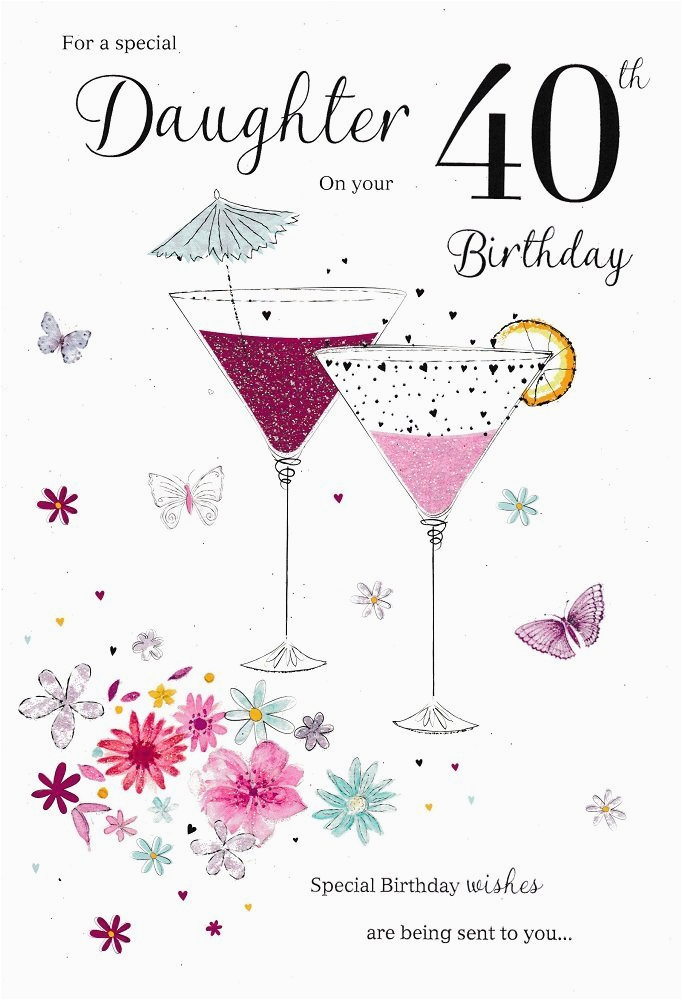 40th Birthday Ideas For Daughter Card Ebay