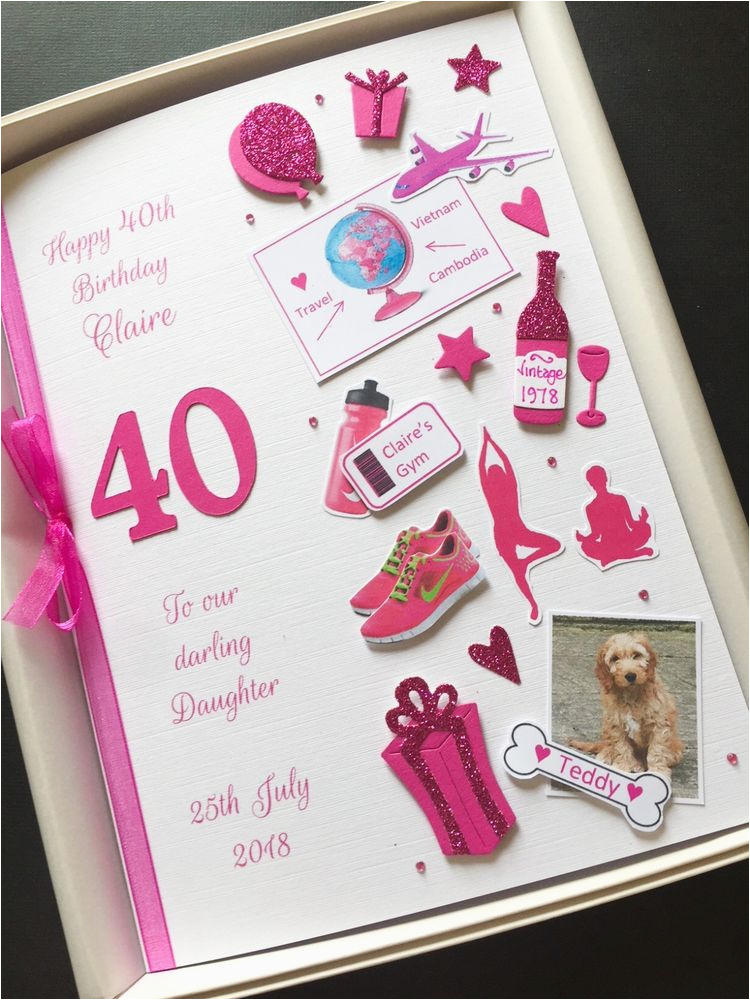40th Birthday Ideas For Daughter Personalised Card Women Mum