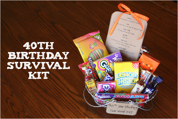 40th Birthday Ideas For Female Friend Survival Kit Such The Spot