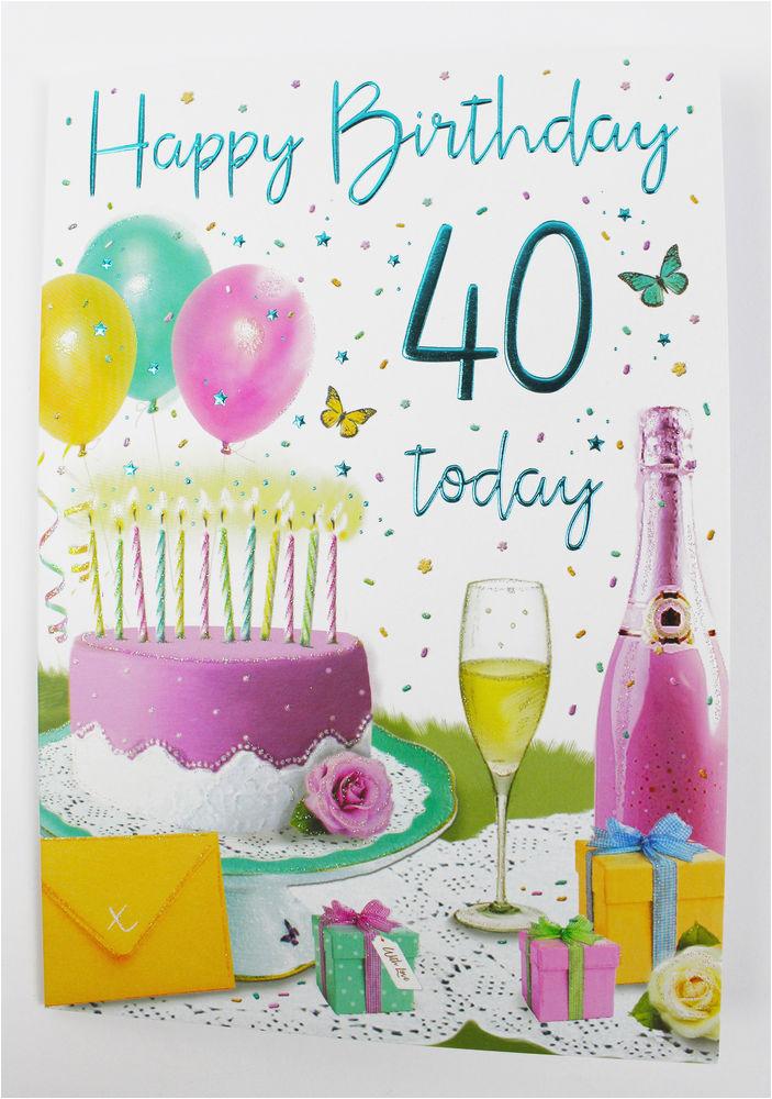 40th Birthday Ideas For Female Friend Happy Card Her Ladies Womens