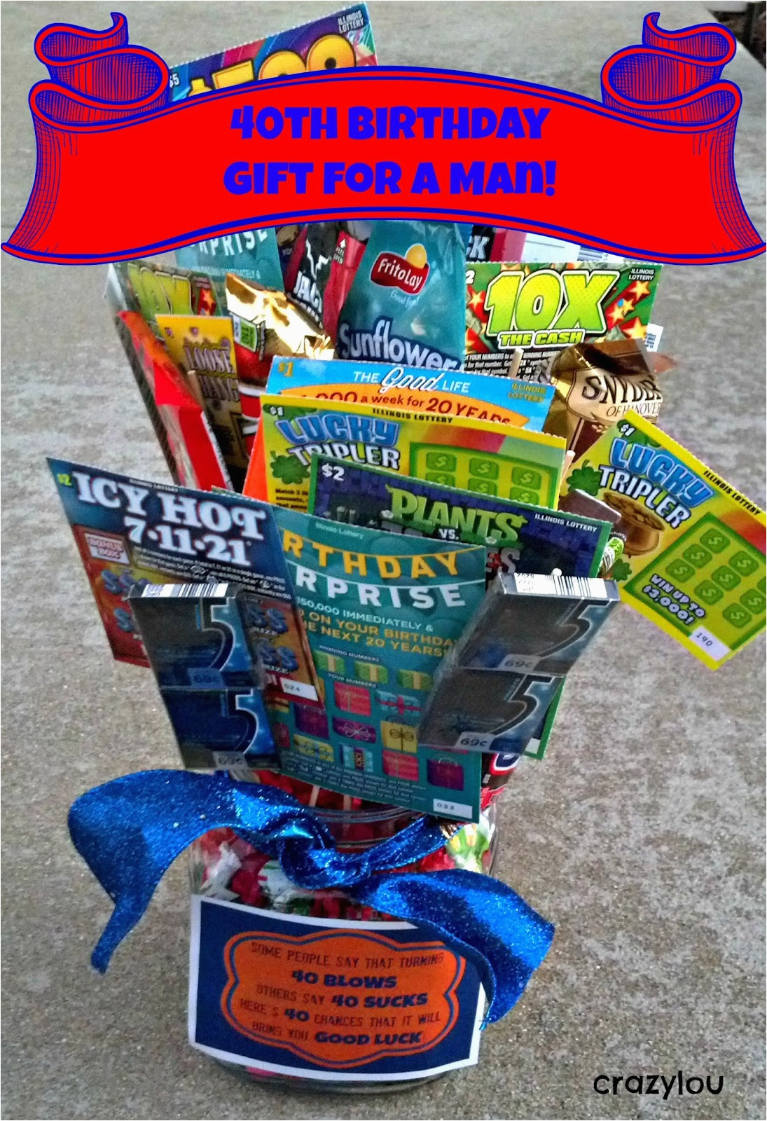 40th Birthday Ideas For Men Funny Gifts Crazylou
