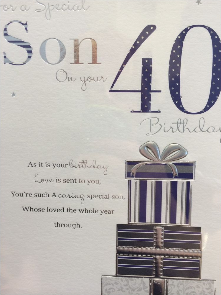 40th Birthday Ideas For Son Card Ebay
