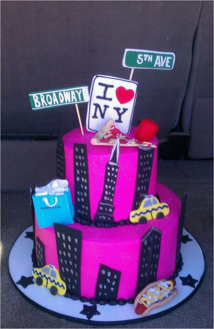 40th Birthday Ideas Nyc 61 Best Images About New York Cakes On Pinterest
