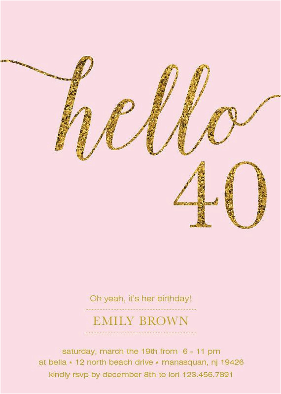 40th Birthday Invitation Cards Designs 40th Birthday Invitation Ideas 40th Birthday Invitation
