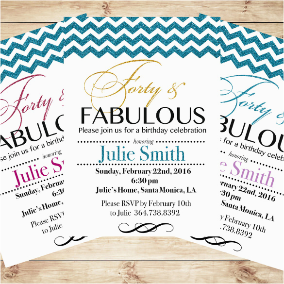 40th Birthday Invitation Templates Free Download Invitations 15 Psd Vector Eps Ai