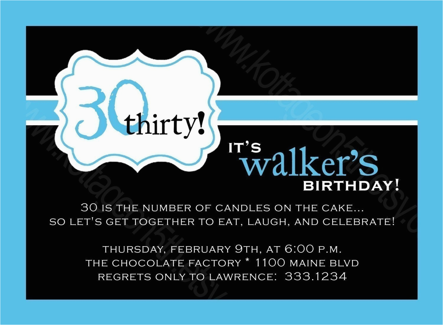 40th birthday invitations for men template