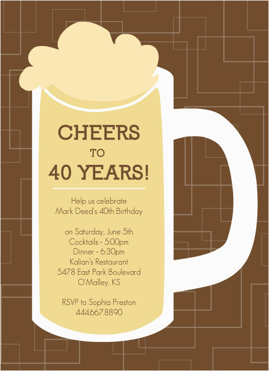 40th Birthday Invitation Wording for Men Invitations for 40th Birthday Quotes Quotesgram