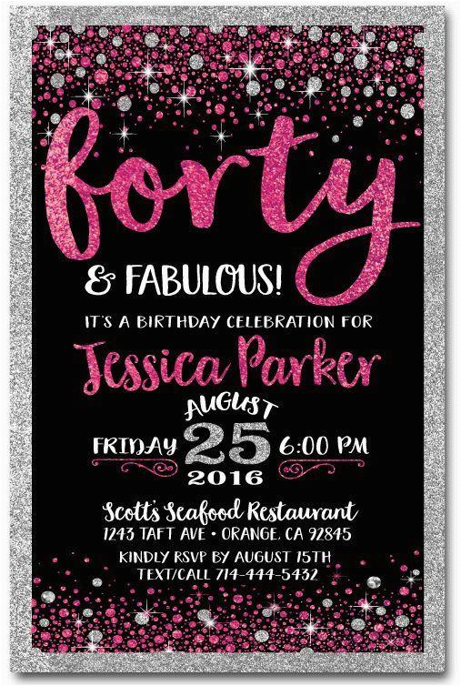 best 25 40th birthday invitations ideas on pinterest