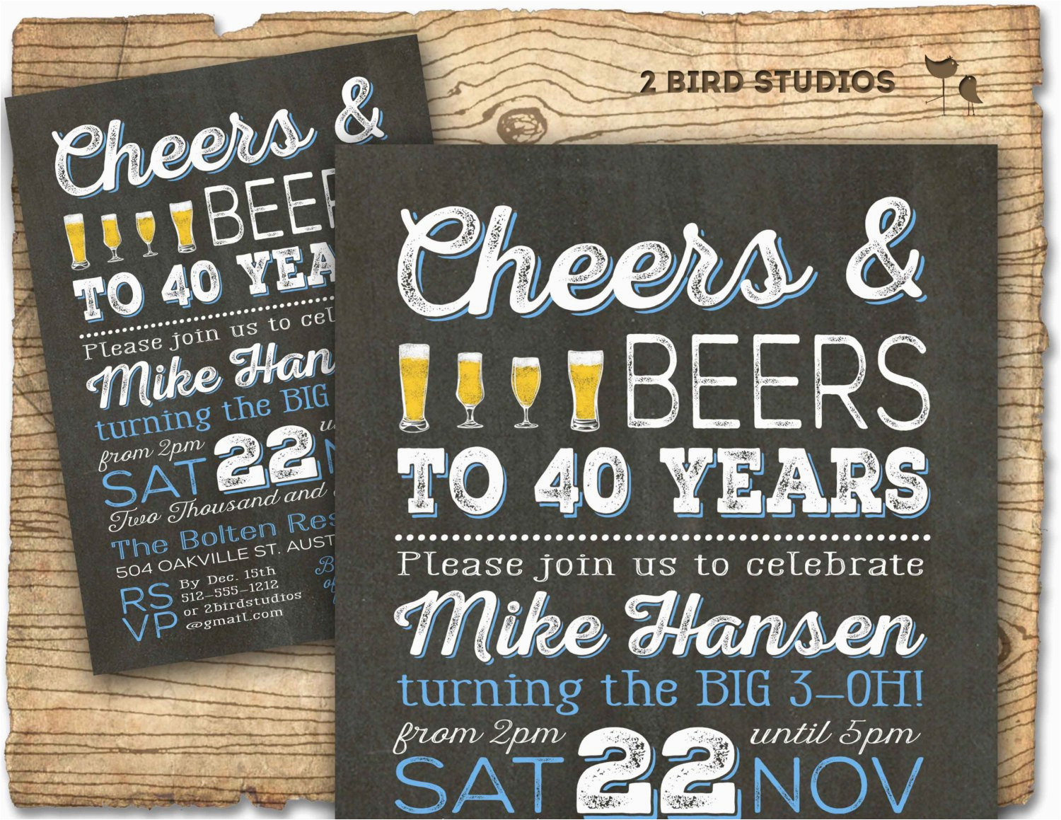 40th Birthday Invitations Ideas Surprise Party Best