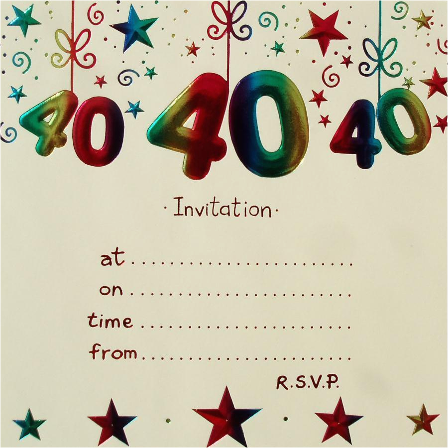 40th Birthday Invitations Templates Invitation Free Download Best