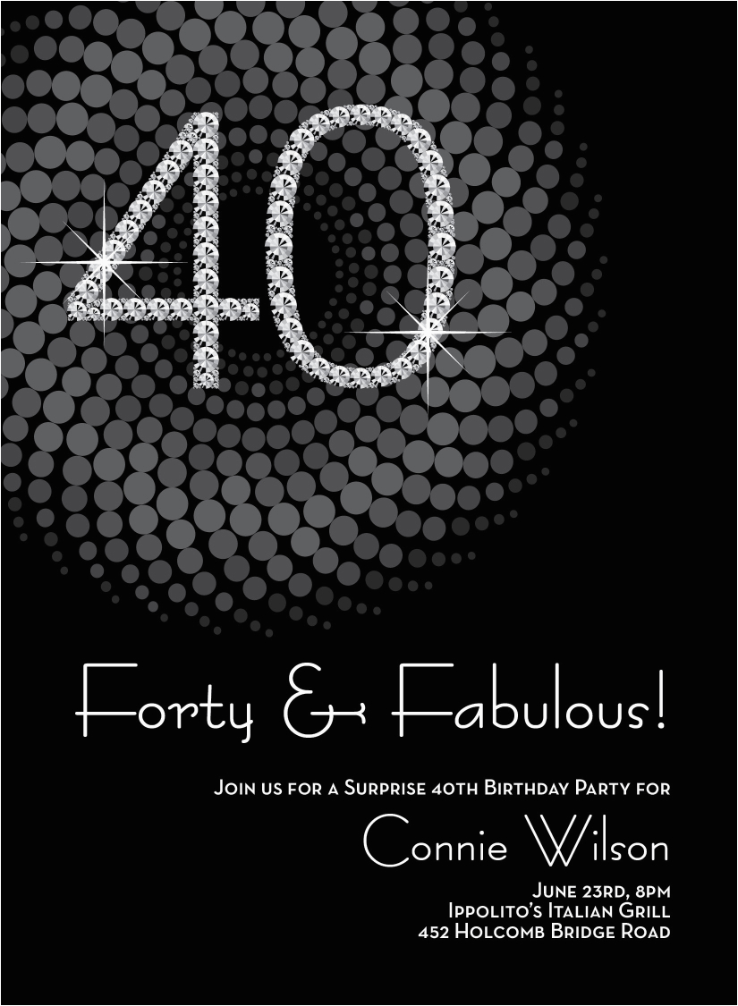 40th Birthday Invite Ideas