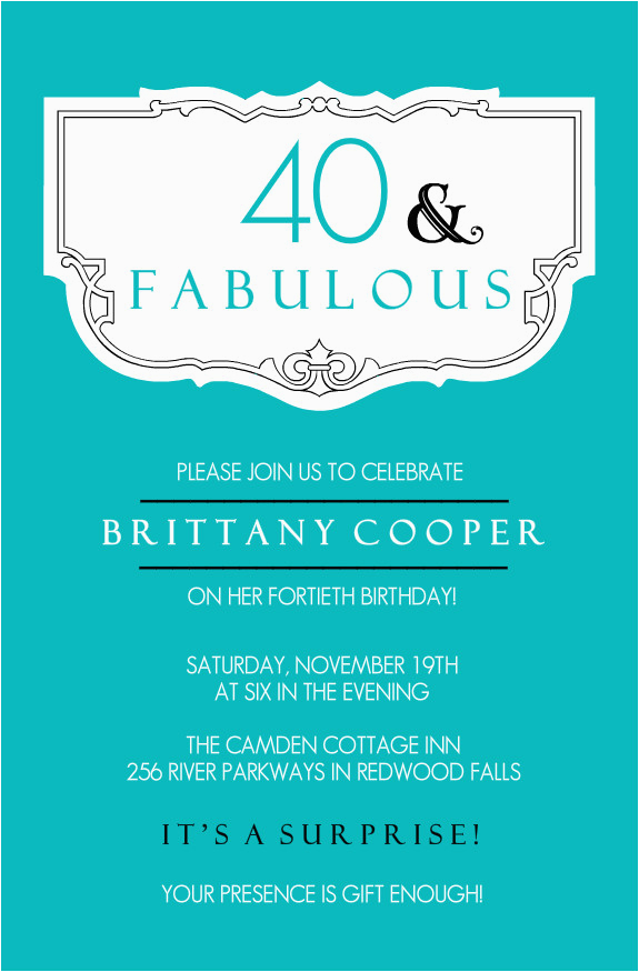 40th Birthday Invites Templates Ideas Invitation