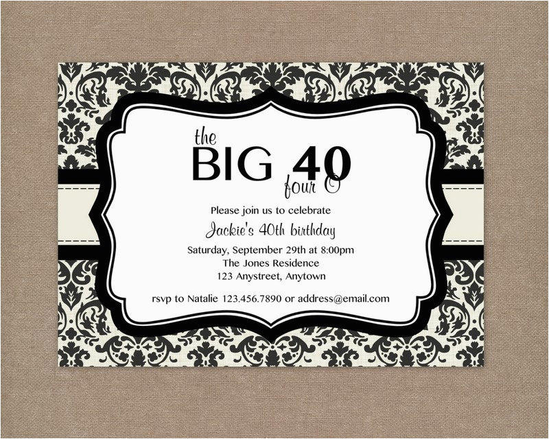 40th Birthday Invites Templates 8 Invitations Ideas And Themes Sample