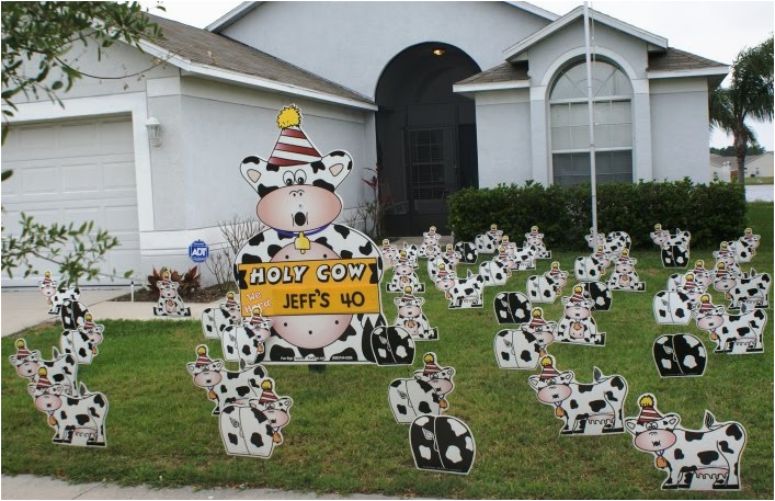 40th Birthday Lawn Decorations Birthday Yard Flocking Decorations Tampa Fl Call