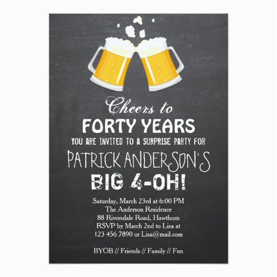 40th Birthday Party Invitations For Men Free Invitation Wording Bagvania