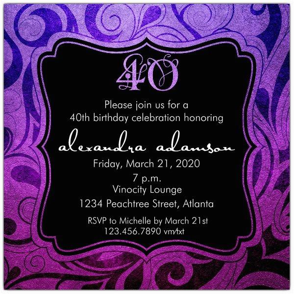 40th Birthday Party Invitations Online Brilliant Emblem 40th Birthday Party Invitations Paperstyle
