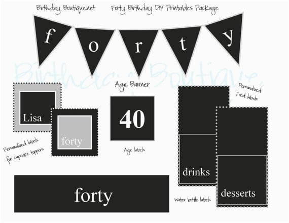 free 40th birthday invitation template
